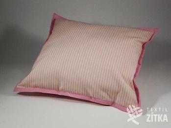 Polštářek 40 x 40 cm Pruh 04 růžová
