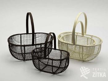Košík drátěný - set 2 ks
