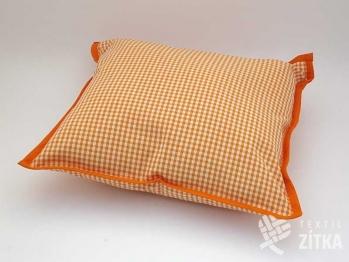 Polštářek 40 x 40 cm Piko 04 oranžová