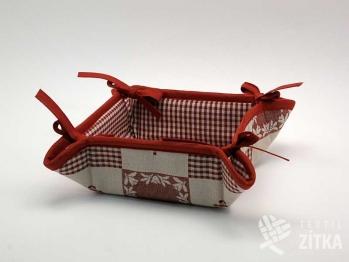 Košíček Patchwork + Piko 04 terakota